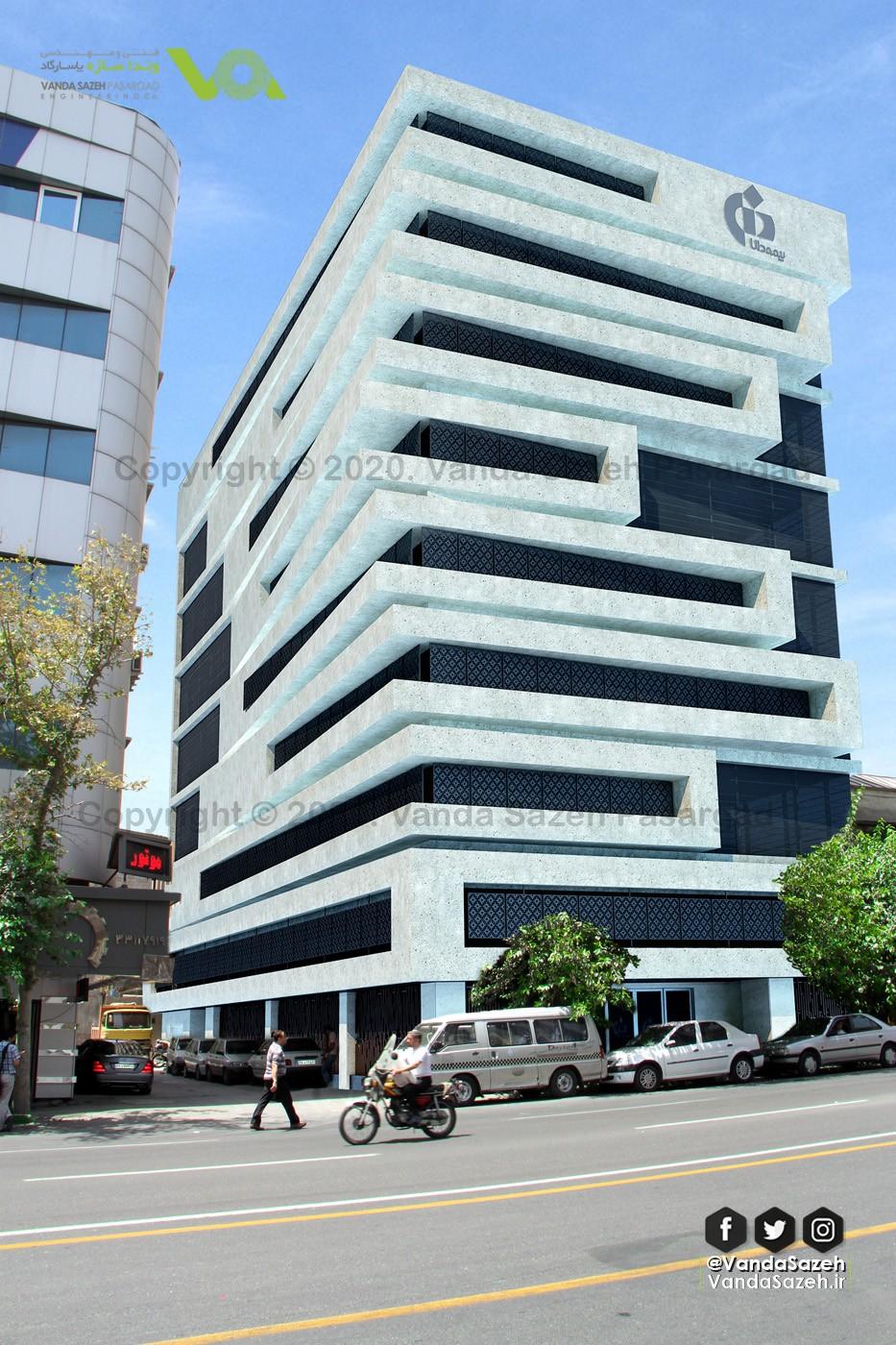 طراحی و اجرای نما مدرن ساختمان